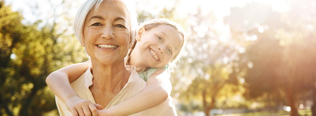 image of grandma and granddaughter