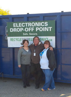 OLG Saves hundreds of electronics from going to the landfill
