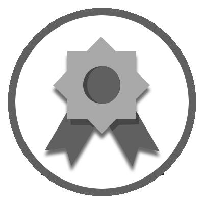 100% goal badge