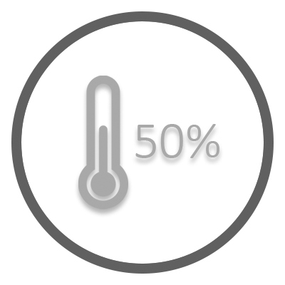50% of goal badge